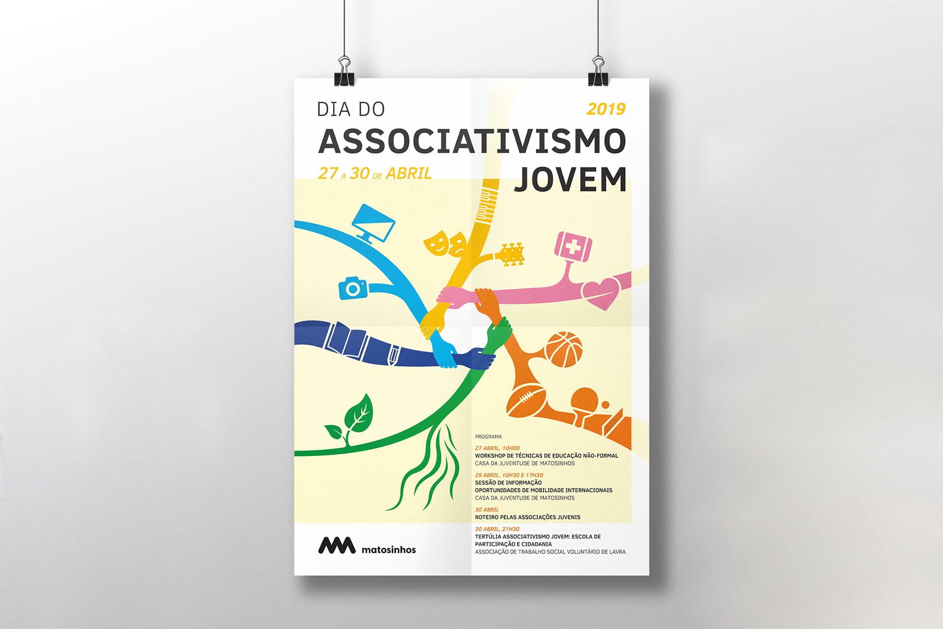 Cartaz Dia do Associativismo Jovem 2019 – Matosinhos
